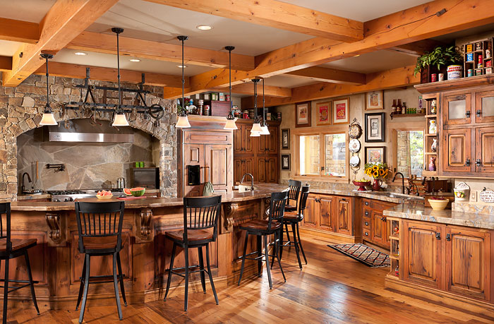 Timber Frames Montana Kitchen